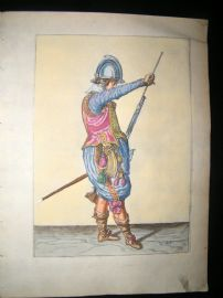 Jacob de Gheyn 1608 Fine Hand Coloured Musketeer Print 24
